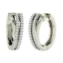 Vvs Diamond Earrings In Platinum Odessa