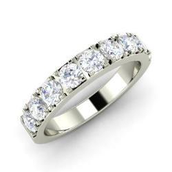 White Topaz And Diamond Wedding Ring In 14k Gold Olina