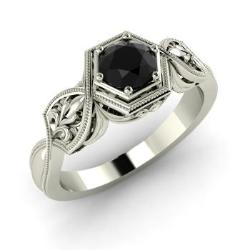 Vintage Black Diamond Engagement Rings Diamondere