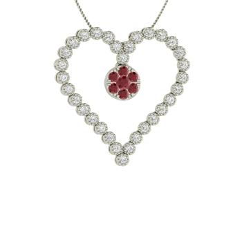 67dc3c7f8 Patricia Necklace with Round Ruby, SI Diamond | 0.47 carat Round ...