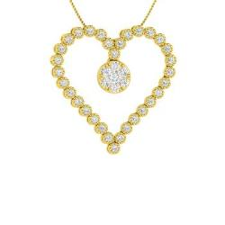 fac746ce4d0 VVS Diamond and Diamond Necklace in 14k Yellow Gold - Patricia