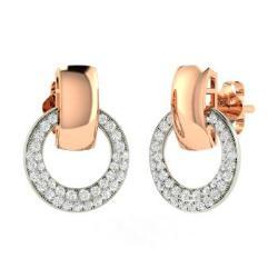 Diamond Earrings In 14k White Gold Prestin