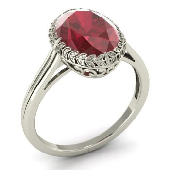 prosper ring with oval ruby 305 carat oval ruby