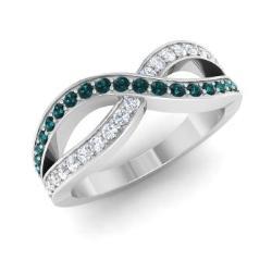Blue Diamond Wedding Ring Blue Diamond Wedding Band Diamondere