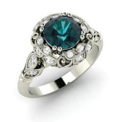 Blue Diamond Engagement Rings For Women Diamondere