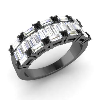 black diamond and vs diamond wedding ring in 18k black gold - Black Diamond Wedding Rings For Him