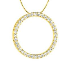 96ce47838f0 VVS Diamond and Diamond Necklace in 14k Yellow Gold - Sharon