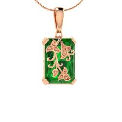 Emerald necklaces in 18k rose gold emerald pendants in rose gold emerald necklace in 18k rose gold solvus aloadofball Choice Image