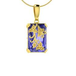 Tanzanite necklaces in 10k yellow gold tanzanite pendants in tanzanite necklace in 10k yellow gold 493 ct solvus mozeypictures Choice Image