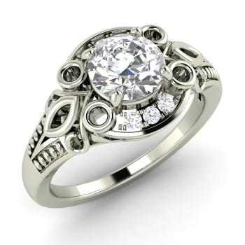 Terra Engagement Ring With Round I Diamond Vvs Diamond 087 Carat