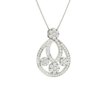 99fe696b543 VVS Diamond and Diamond Nature Necklace in 14k White Gold