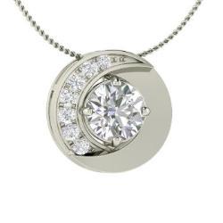 553efcaf54c VVS Diamond and Diamond Necklace in 14k White Gold - Trance