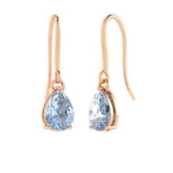 Aquamarine Earrings In 18k Rose Gold Valonia