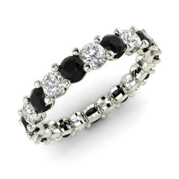 Black Diamond Wedding Band.Verity