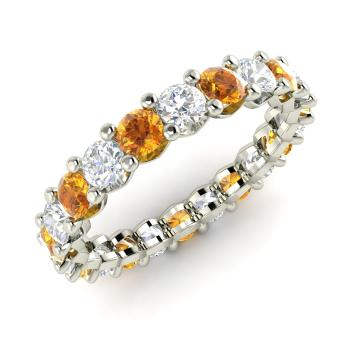 clarissa and in si gold yellow k g diamond band channel jp ct tw eternity citrine h common