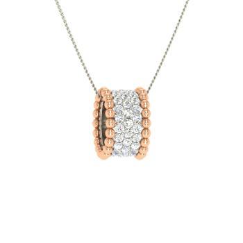 Vima Necklace With Round Si Diamond 0 9 Carat Round Si