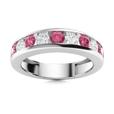 Pink Sapphire Anniversary Rings For Women Anniversary Rings