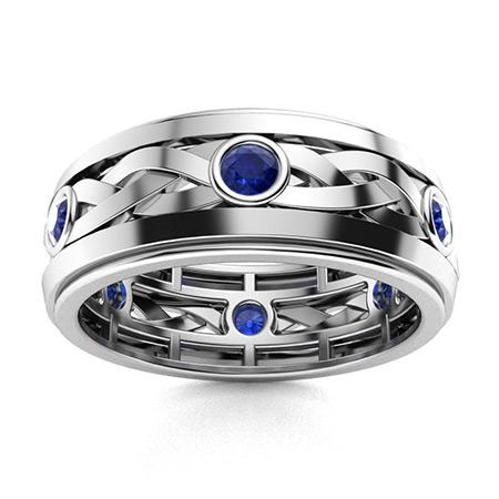 Sapphire Men S Wedding Bands Sapphire Men S Rings Diamondere Natural Certified